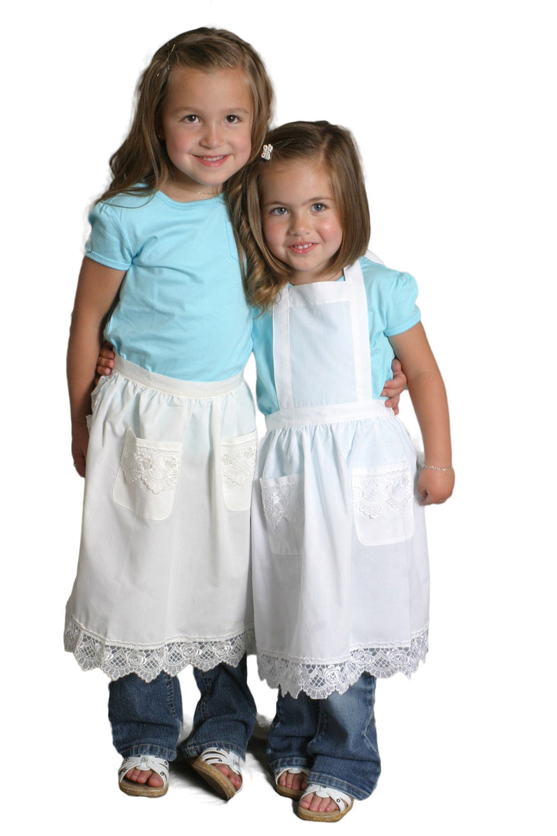 Girls Lace Ecru Full Apron (Ages 2-8) - GermanGiftOutlet.com  - 4