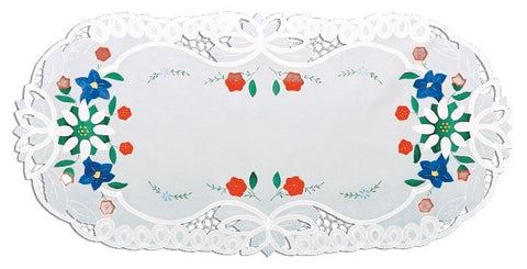 Bavarian Flower Themed Oktoberfest Table Runner-LI07