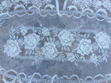 Alpine Rose Ecru Square Table Linen - OktoberfestHaus.com
