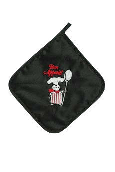 Bon Appetit! Potholder Black - GermanGiftOutlet.com