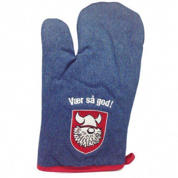 Vaer Sa God! Denim Mitten Scandinavian Gift Idea - GermanGiftOutlet.com  - 1