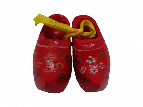 Unique Magnet Holland Wooden Shoes Red - 1 - GermanGiftOutlet.com