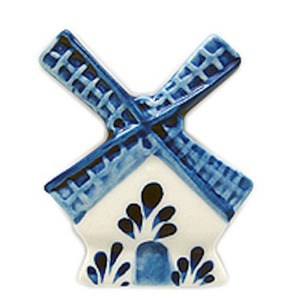 Dutch Souvenir Magnets Blue and White Windmill - GermanGiftOutlet.com  - 1
