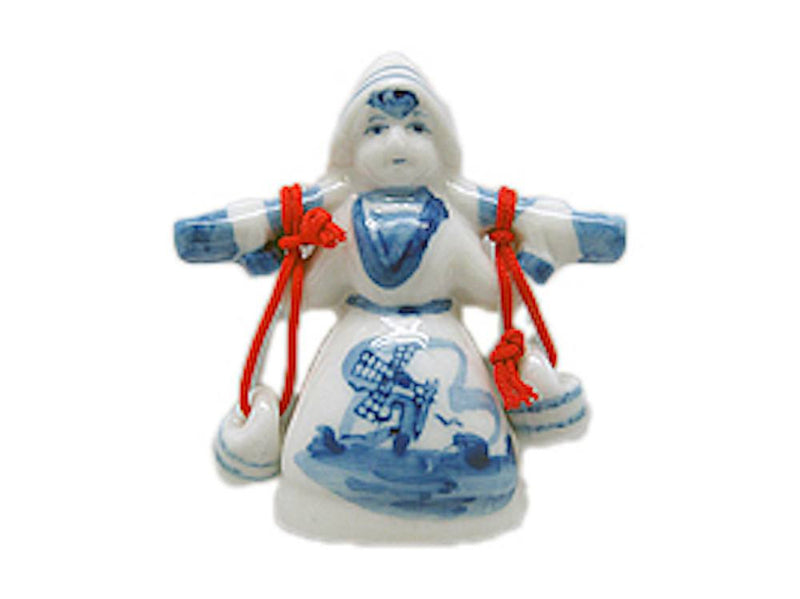 Dutch Gift Magnet Delft Girl with Buckets - GermanGiftOutlet.com  - 1
