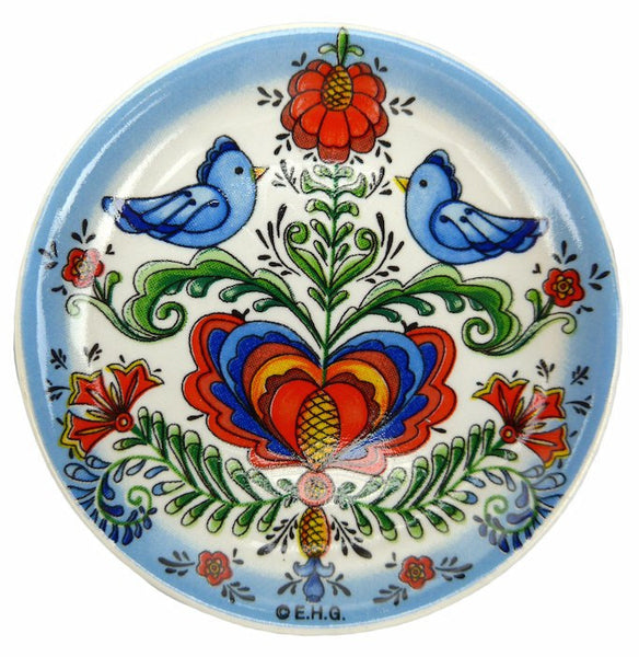 Lovebirds Souvenir Fridge Magnet Plate - GermanGiftOutlet.com