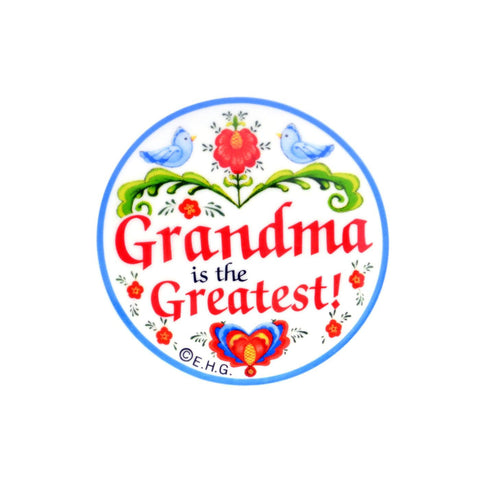 """Grandma Is the Greatest"" Magnet Plate - GermanGiftOutlet.com"