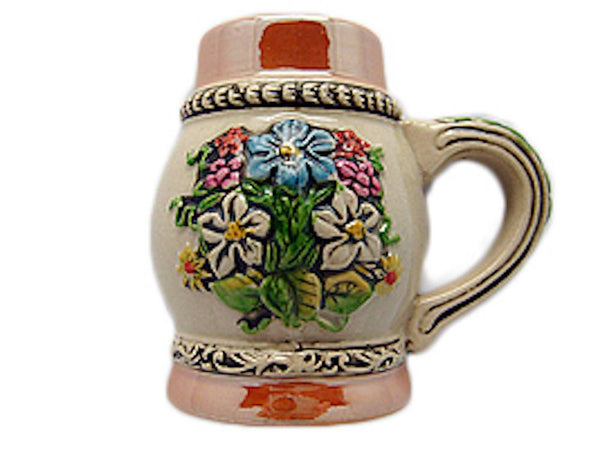 Oktoberfest Beer Stein Fridge Magnet German Flower - GermanGiftOutlet.com  - 1