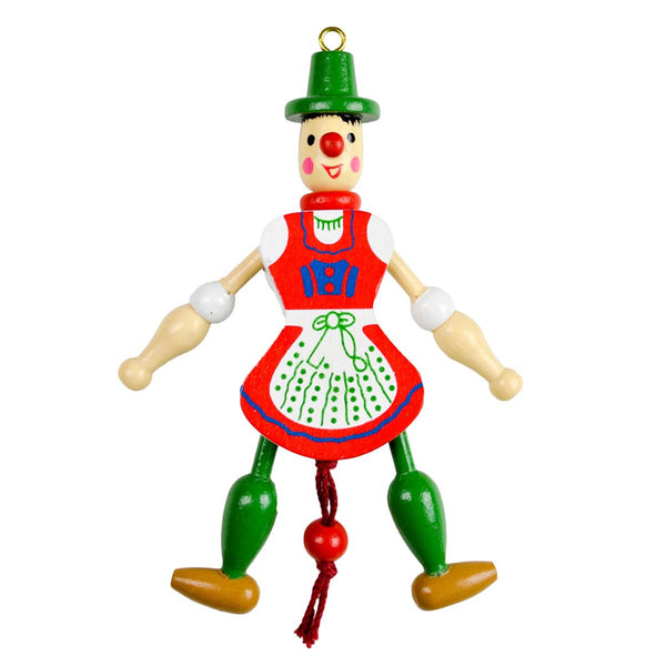 German Gift Jumping Jack Toy Fridge Magnet Girl-MA05