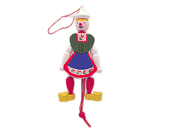 Jumping Jack Toy Fridge Magnet Dutch Girl - GermanGiftOutlet.com  - 1