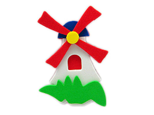 Decorative Dutch Poly Windmill Kitchen Magnet White - GermanGiftOutlet.com  - 1
