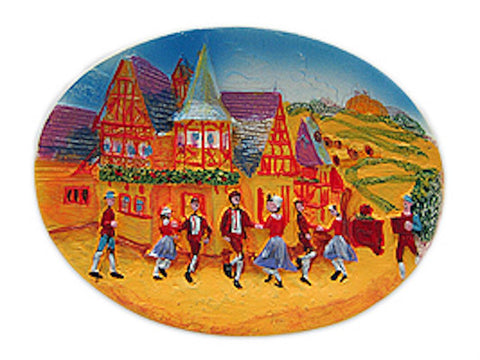 Oktoberfest Dancers German Souvenir Fridge Magnet - GermanGiftOutlet.com  - 1