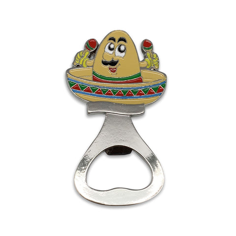 Mexican Sombrero Metal Bottle Opener Fridge Magnet-MA07