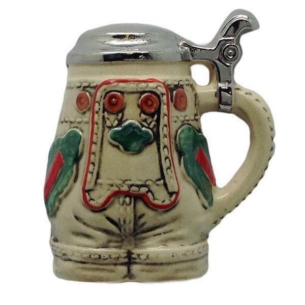 German Party Favor Stein Magnet Lederhosen - GermanGiftOutlet.com