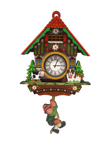 German Kitchen Cow & Dog Cuckoo Clock Fridge Magnet - GermanGiftOutlet.com