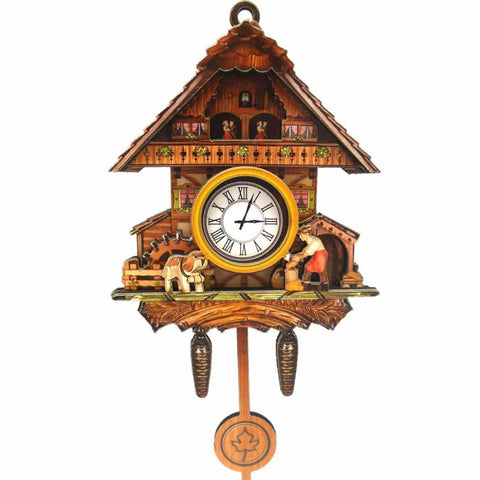 German Kitchen Man & Dog Cuckoo Clock Fridge Magnet - GermanGiftOutlet.com