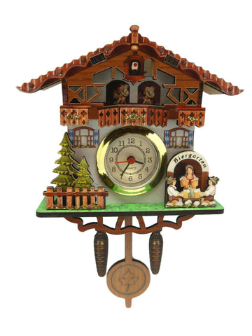 German Kitchen Bier Garten Functioning Clock Fridge Magnet - GermanGiftOutlet.com