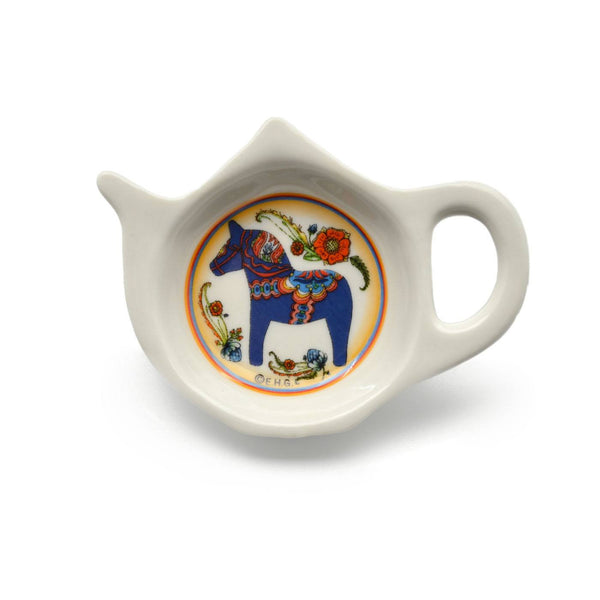 Blue Dala Horse Decorative Teapot Magnet - GermanGiftOutlet.com