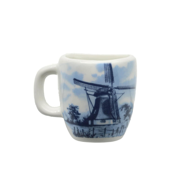 Dutch Windmill Scene Ceramic Mug Magnet - GermanGiftOutlet.com