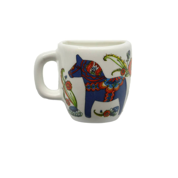 Blue Dala Horse Decorative Ceramic Mug Magnet  - GermanGiftOutlet.com