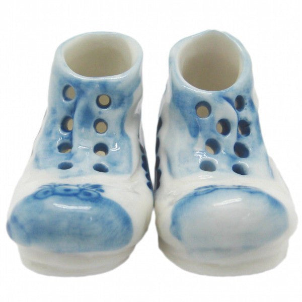 Ceramic Miniatures Delft Blue Pair of Boots - GermanGiftOutlet.com  - 1