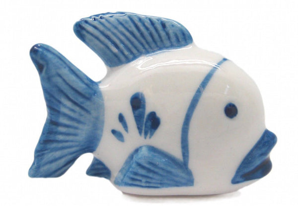 Ceramic Miniatures Animals Delft Blue Fish - GermanGiftOutlet.com  - 1