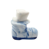 Porcelain Miniatures Animal Delft Cat In Boot-MI01