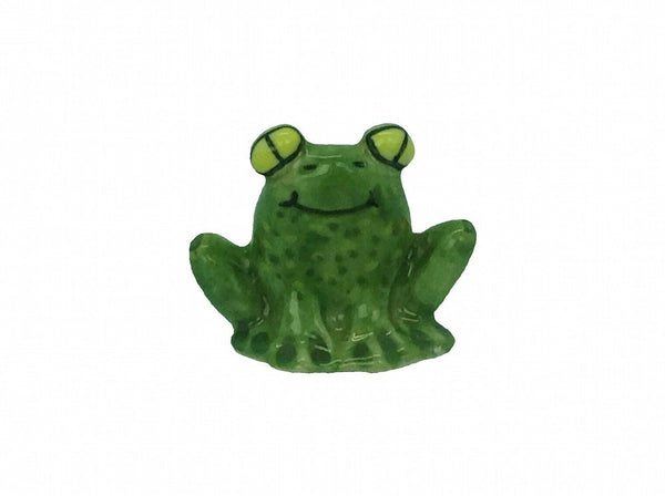 Ceramic Miniature Ceramic Frog - GermanGiftOutlet.com