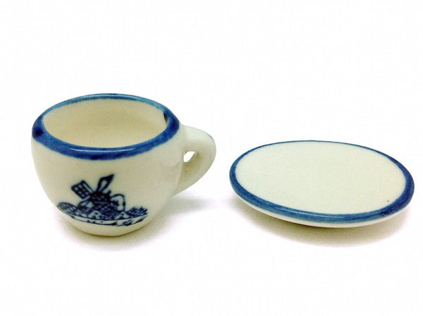 Miniature Cup and Saucer Set Delft - GermanGiftOutlet.com  - 1