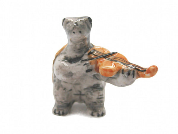 Miniature Musical Instrument Turtle With Violin - GermanGiftOutlet.com  - 1