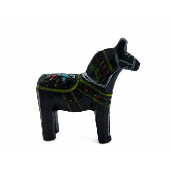 Dala Horse Blue Poly Resin Miniature-MI03