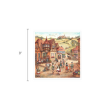 German Gift Magnet Tile Village Dancers Scene