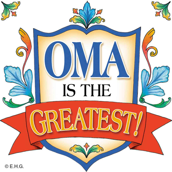 German Gift Idea Oma Magnetic Gift Tile