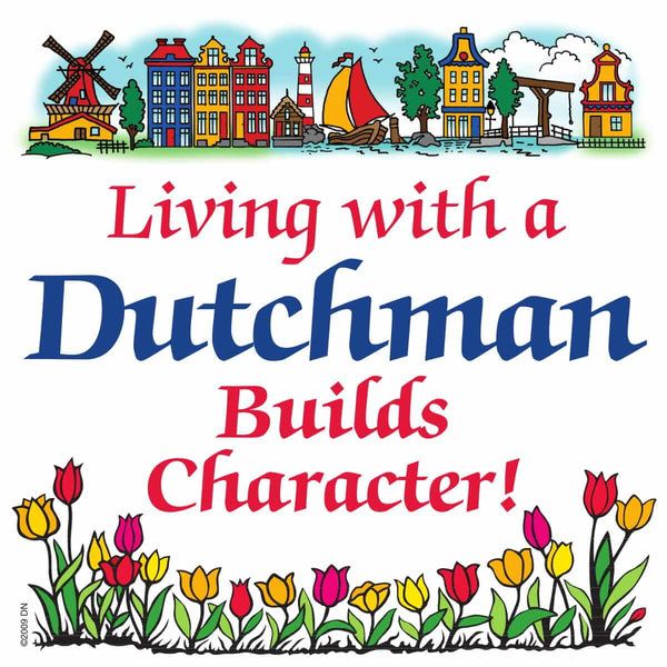 Dutch Souvenirs Magnet Tile (Living Dutchman)