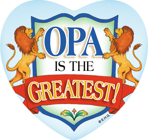 Ceramic Tile Magnet: Opa Greatest - GermanGiftOutlet.com  - 1
