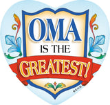 Ceramic Tile Magnet: Oma Greatest - GermanGiftOutlet.com