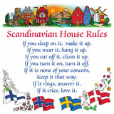 Swedish Gift Idea Magnet Tile (House Rules)