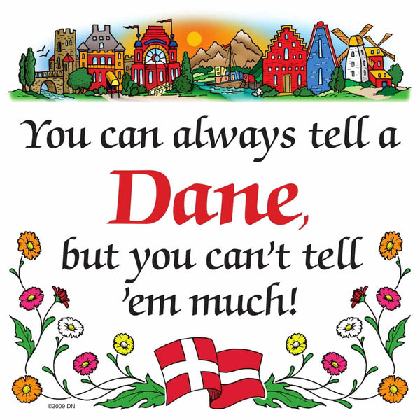 Danish Shop Magnet Tile (Tell A Dane)