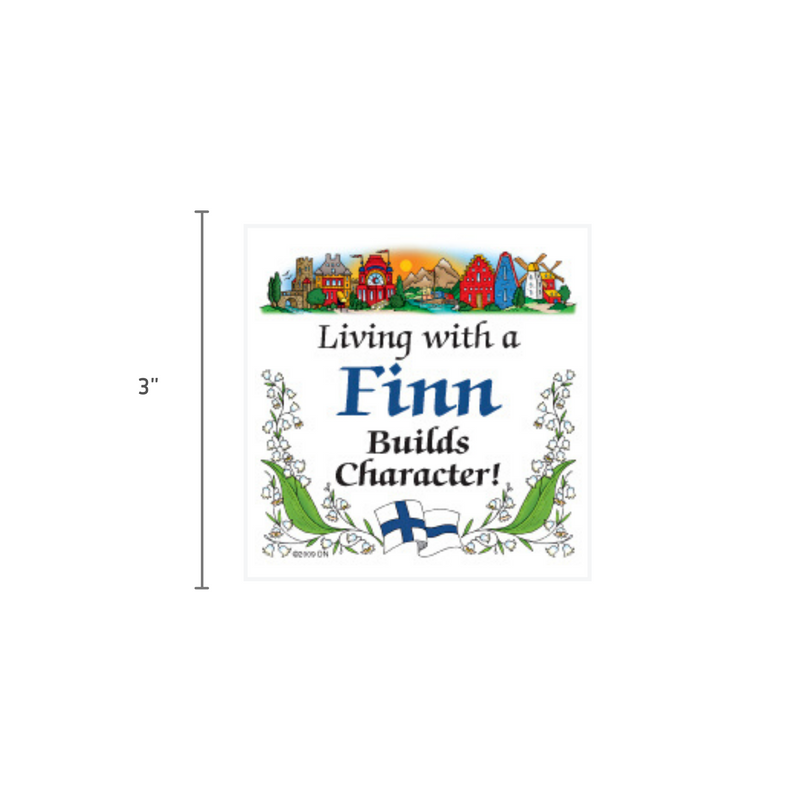 Finnish Souvenirs Magnetic Tile (Living With A Finn)
