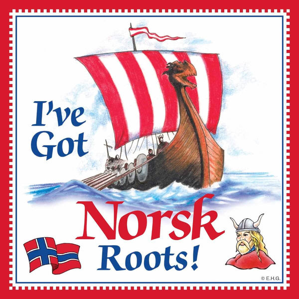 Norwegian Gift Magnet Tile (Norsk Roots)
