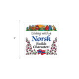 Norwegian Gift Magnet Tile (Living With A Norsk)