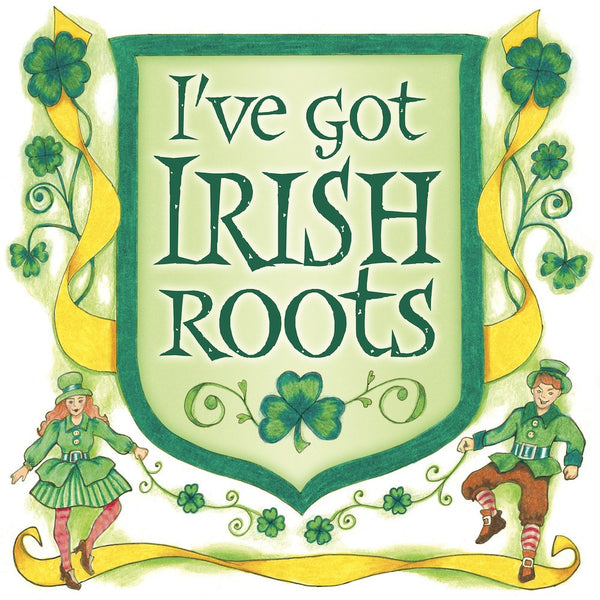 Irish Gift Ideas: Irish Roots Magnet Tile - GermanGiftOutlet.com  - 1