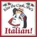 "Italian Gift For Women Fridge Magnet ""Kiss Italian Cook"" - GermanGiftOutlet.com  - 1"