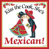 Mexican Gifts: Kiss Mexican Cook Tile Magnet - GermanGiftOutlet.com  - 1