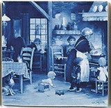 Dutch Gift Idea Tile Magnet Family Gathering - GermanGiftOutlet.com  - 1