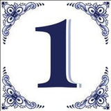 House Numbers Tile Blue and White - GermanGiftOutlet.com  - 1