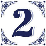 House Numbers Tile Blue and White - GermanGiftOutlet.com  - 2