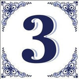 House Numbers Tile Blue and White - GermanGiftOutlet.com  - 3