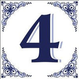House Numbers Tile Blue and White - GermanGiftOutlet.com  - 4