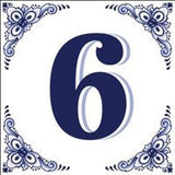 House Numbers Tile Blue and White - GermanGiftOutlet.com  - 6