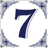 House Numbers Tile Blue and White - GermanGiftOutlet.com  - 7